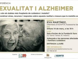 cartell conferència sexualitat i alzheimer