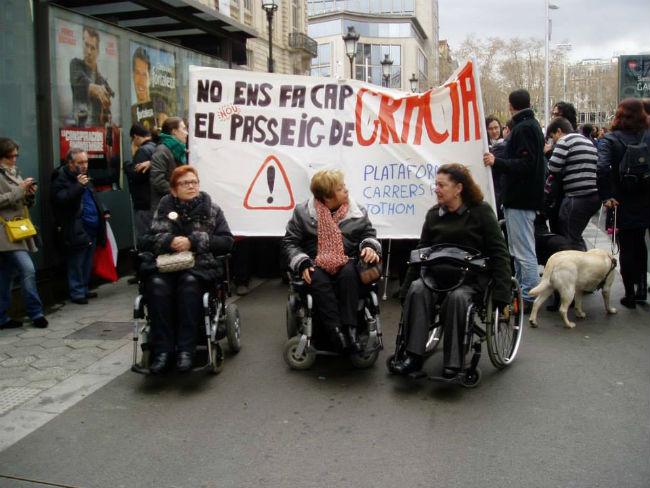 manifestació carrers per tothom
