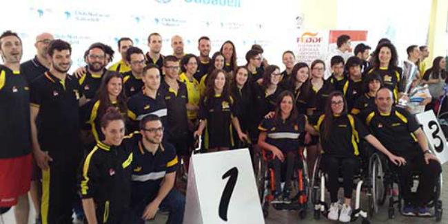 selecció Catalunya de natació adaptada