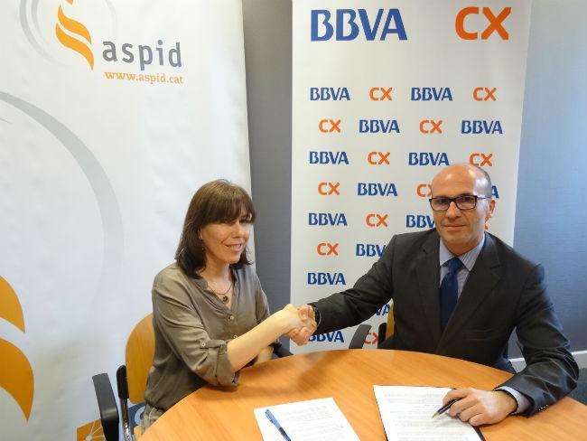 Conveni d'ASPID i CatalunyaCaixa per la formació i l'ocupació de discapacitats a Lleida