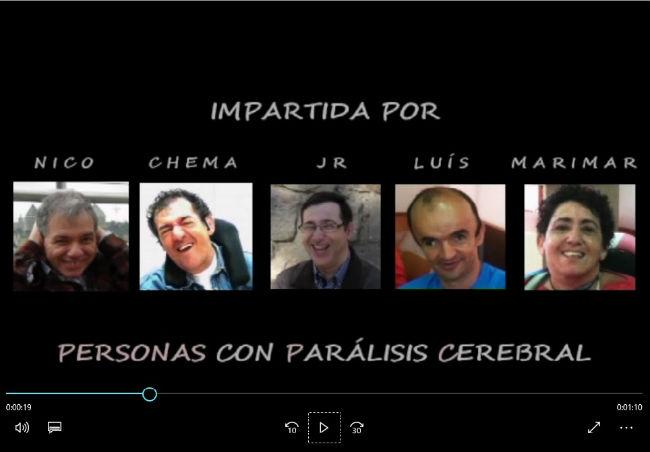 Jornada sobre empresai valors humans impartida per persones amb paràlisi cerebral