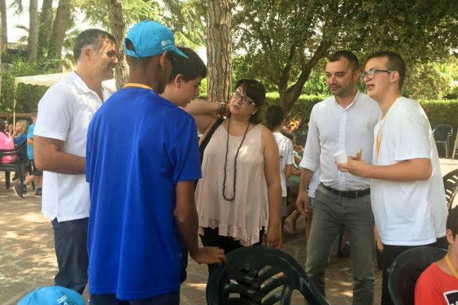Dani Ballart visita Campus Capacitats Diverses
