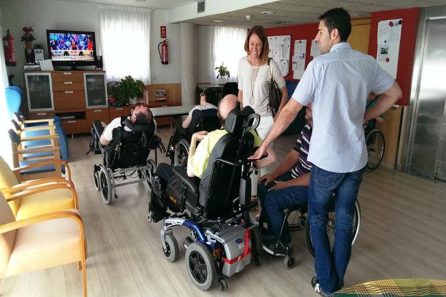 visita alcaldessa Girona residència mifas