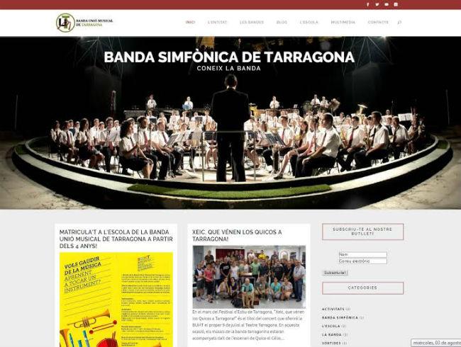 La Banda Unió Musical de Tarragona estrena web per apropar la cultura de banda
