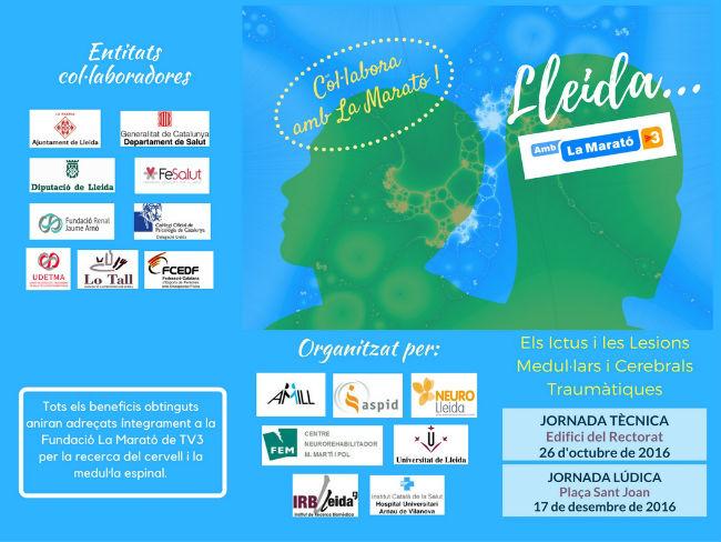 cartell jornada lleida amb la marató tv3