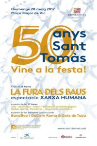 cartell celebració festa 50è aniversari sant tomàs