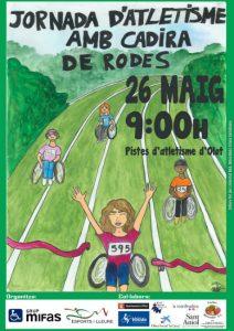 cartell de les jornades atletisme cadira rodes barreres olot