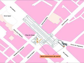 plànol estació metro Jaume I millora accessibilitat