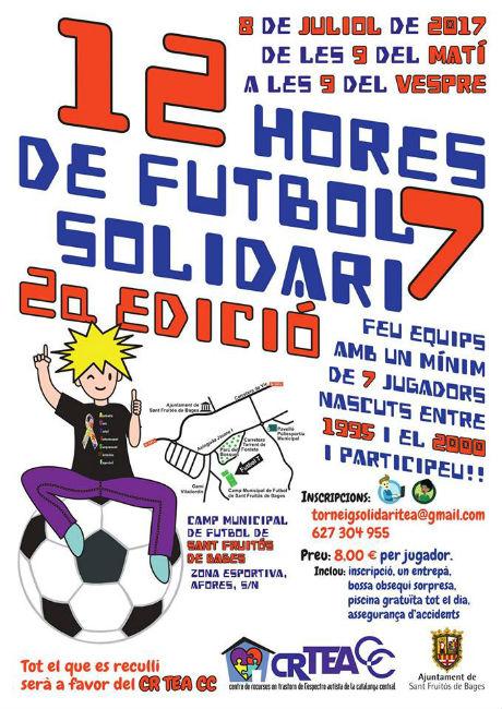 Futbol 7 solidari amb el Centre de Recursos TEA de la Catalunya Central a Sant Fruitós de Bages