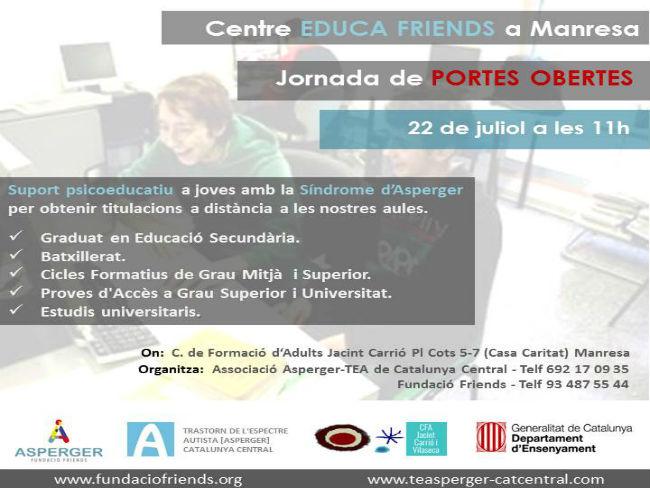 Manresa tindrà al setembre un centre Educafriends per a alumnes amb síndrome d'Asperger