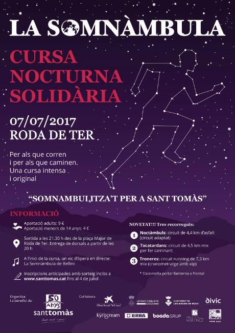 Arriba la 4a edició de la cursa solidària, nocturna i diferent 'La Somnàmbula'