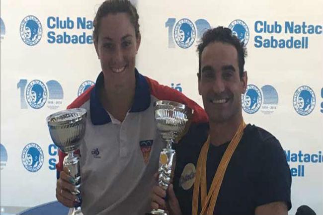 Sarai Gascón i Miguel Luque campions absoluts de Catalunya d'estiu de natació