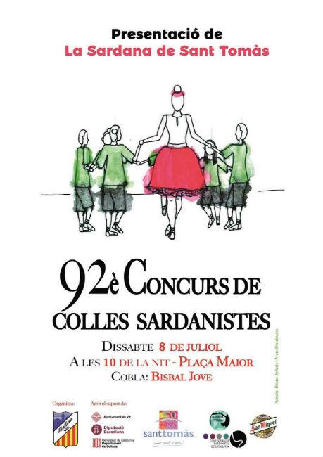 Sant Tomàs estrenarà la seva sardana en el marc del 92è Concurs de Colles Sardanistes a Vic