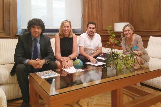 Trobada a Madrid de la Federación ASEM amb el secretari d'Estat de Serveis Socials i Igualtat