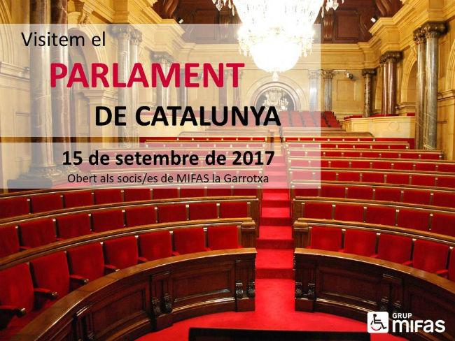 delegació mifas garrotxa visita Parlament Catalunya