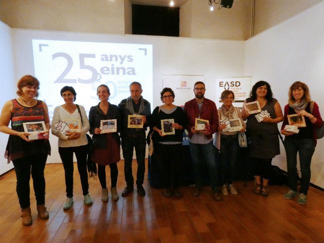 Es lliuren els premis del concurs fotogràfic amb motiu dels 25 anys d'Eina