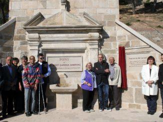 Inauguració de la Font de Mn Josep Garriga tàrrega