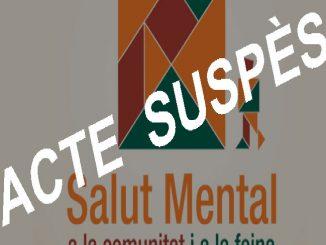 suspesos actes celebració dia mundial salut mental