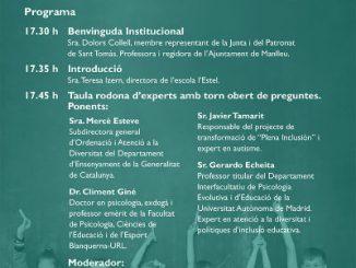 Programa Taula rodona educació inclusiva sant tomàs