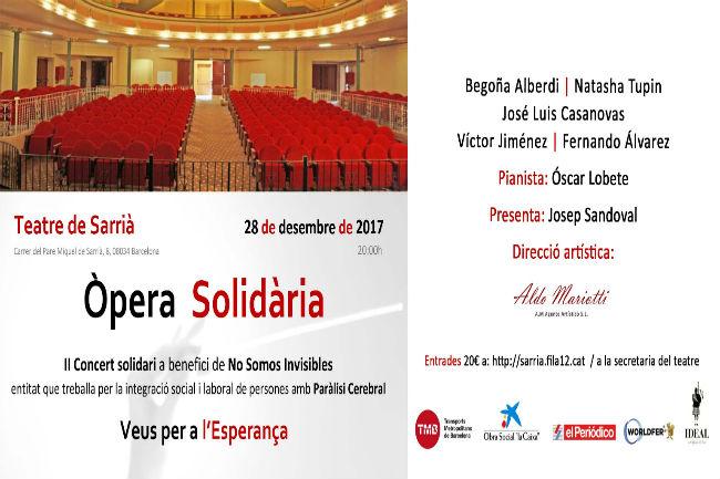 Segona edició del Concert d'Òpera Solidària a benefici de l'associació No Somos Invisibles