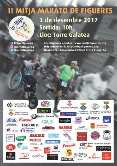 cartell 2a mitja marató inclusiva figueres usuaris cadira rodes