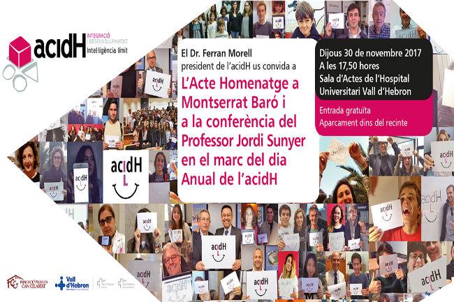 Primer homenatge a la fundadora de l'acidH en la 3a edició del dia anual de l'entitat