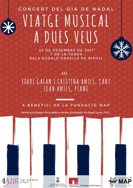 Concert de Nadal solidari a Ripoll a benefici dels Serveis a la Infància de la Fundació MAP