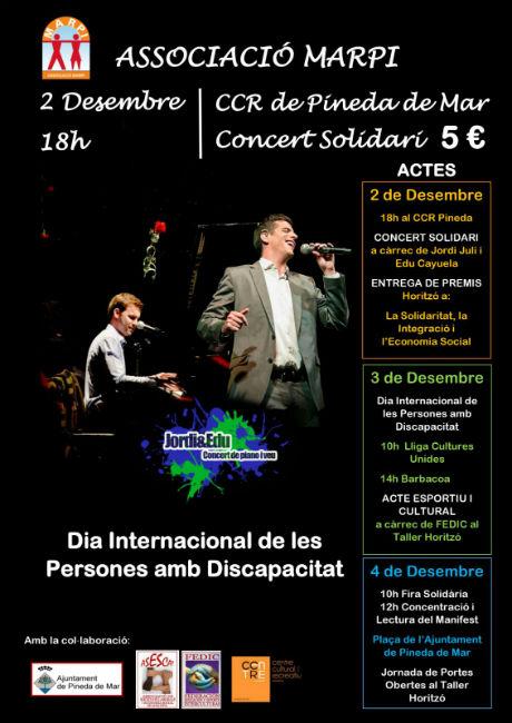 Concert solidari a Pineda de Mar amb motiu del Dia Internacional de les Persones amb Discapacitat