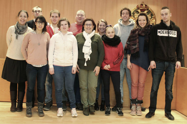 Visita dels alumnes alemanys a la Casa Consistorial de Tàrrega
