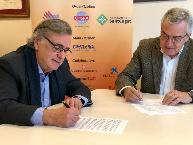 La FECPC i Catalònia Fundació Creativa firmen un acord per als World Games de Sant Cugat