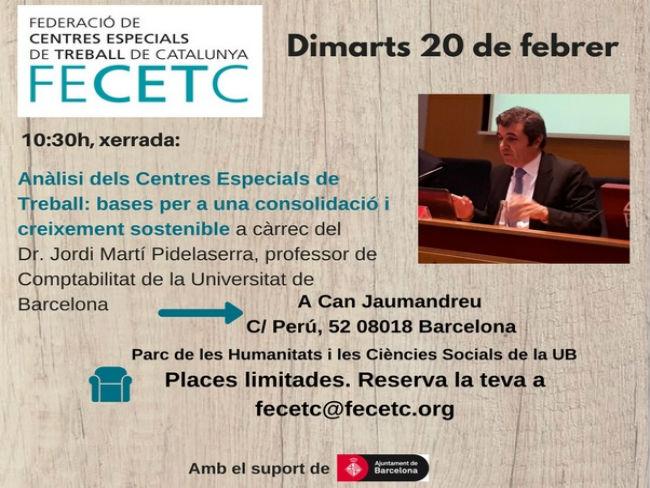 FECETC organitza una xerrada sobre 'Anàlisi dels CET: bases per a una consolidació i creixement sostenible'