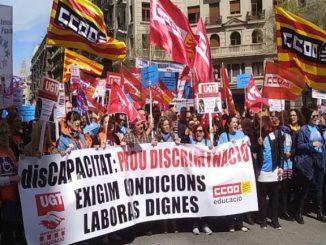manifestació centenar persones discapacitat condicions laborals dignes