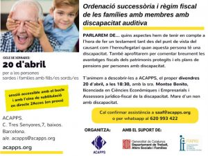 xerrada testament règim fiscal famílies discapacitat auditiva