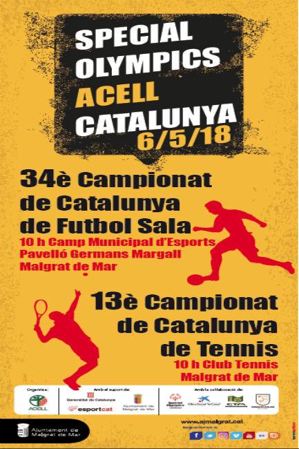 Malgrat acull els campionats de Catalunya de Futbol Sala i Tennis d'esportistes amb discapacitat intel·lectual