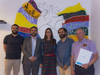 autoritats mural inauguracio club social gramenet