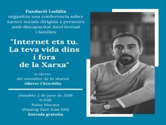 cartell conferencia xarxes socials discapacitat intel·lectual