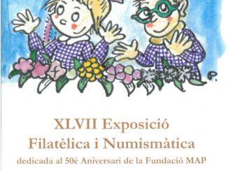cartell exposició segell 50 anys fundació map