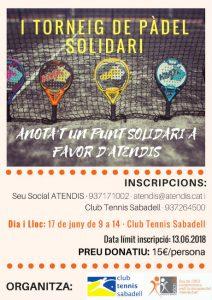 cartell torneig solidari padel atendis