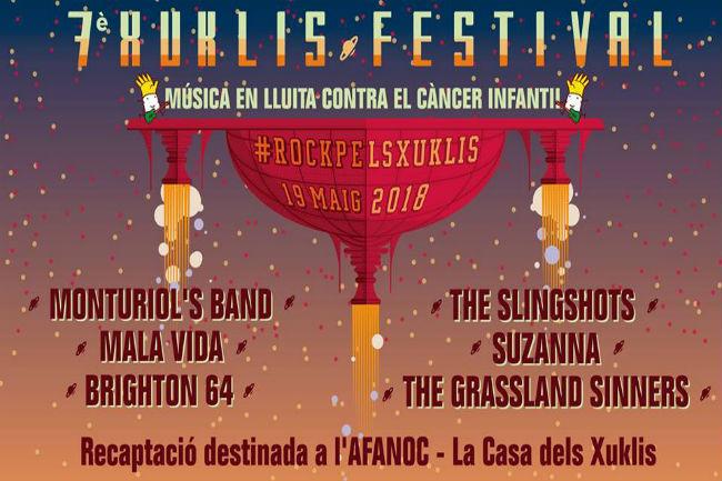 cartell concert xuklis festival pla montbau