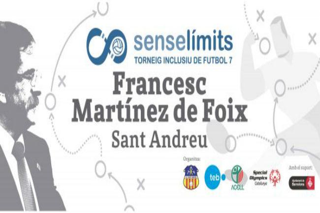 Reconeixement a la figura del Francesc Martínez de Foix al I Trofeu Inclusiu de futbol 7 SenseLímits