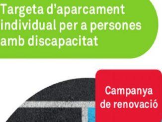 renovació targeta aparcament persones discapacitat