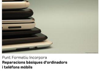 cartell formació reparacions ordinadors telèfons mòbils adfo