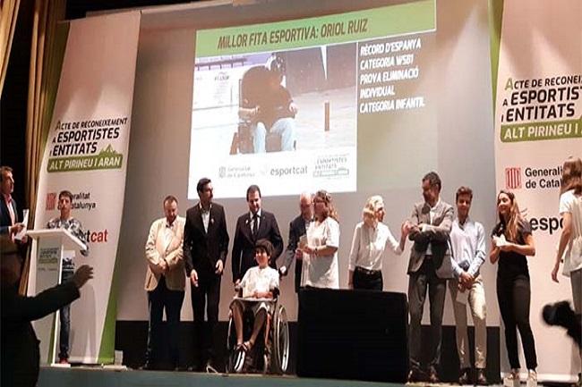 La Generalitat reconeix Oriol Ruiz entre els millors esportistes de l'Alt Pirineu i Aran del 2017