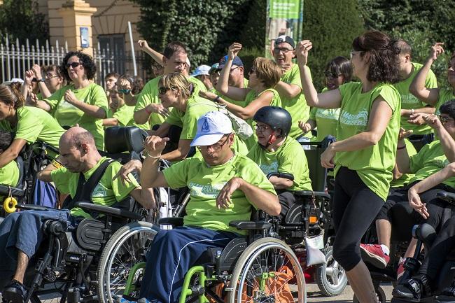 flashmob paràlisi cerebral lleure educatiu