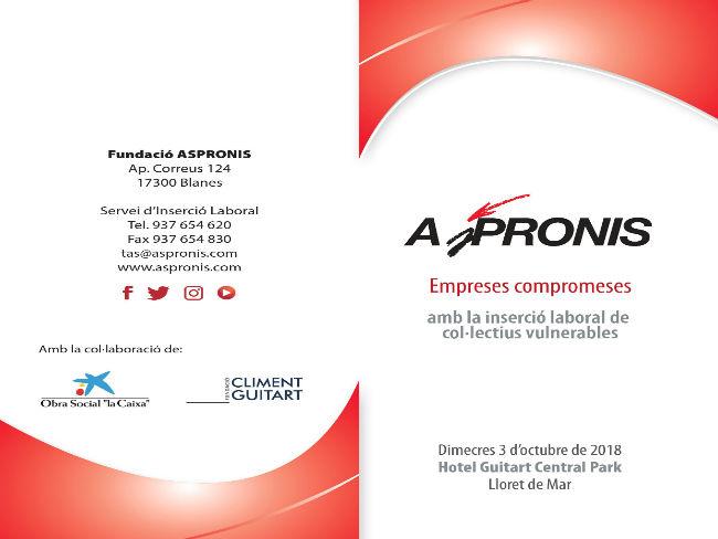 La Fundació ASPRONIS organitza una jornada sobre la inserció laboral de col·lectius vulnerables