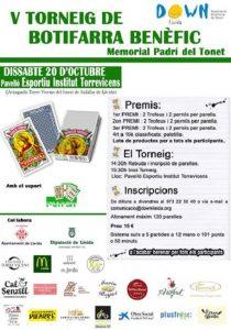 El 20 d'octubre al Pavelló Esportiu Institut Torrevicencs