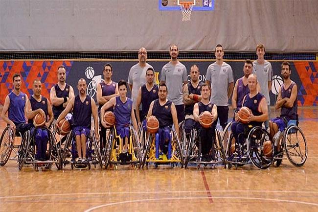 unes barça primera victòria lliga catalana bàsquet cadira rodes nivell 1