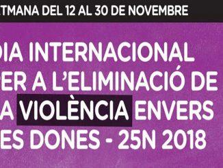 cartell dia contra violència envers dones