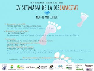 cartell programa iv setmana de la discapacitat