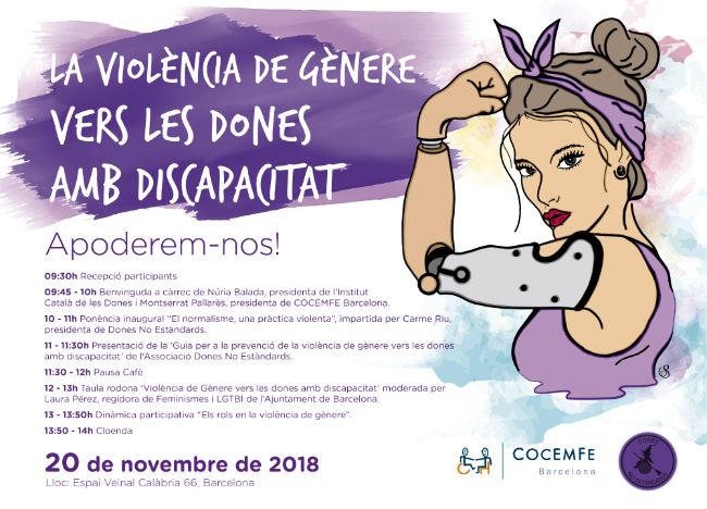 Jornada per denunciar i exigir polítiques contra la violència de gènere vers a les dones amb discapacitat